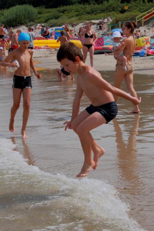 W życiu trzeba przeskoczyć kożdą falę... #morze #wakacje
