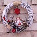 Wianek świąteczny, moja praca #BożeNarodzenie #krakow #rękodzieło #stroik #wieniec