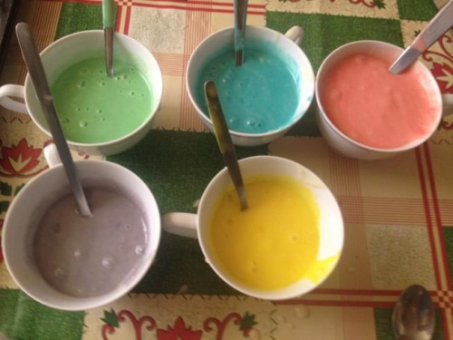 kolorowe babeczki