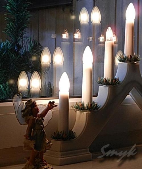 Adwent - czas radosnego oczekiwania #świecznik #aniołek #adventsljusstake #adwent #jak_menora