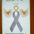 Pink Ribbon Angel - stitchingcards.com #fantagiro7 #HaftMatematyczny #ObrazkiZSzyciaWzięte
