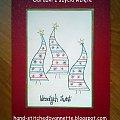 Three Trees - stitchingcards.com #fantagiro7 #HaftMatematyczny #ObrazkiZSzyciaWzięte