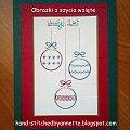 Three Baubles - stitchingcards.com #fantagiro7 #HaftMatematyczny #ObrazkiZSzyciaWzięte