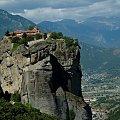 Gracja Meteory #Grecja #Meteory #klasztor #skała