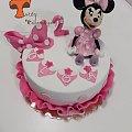 Urodzinowy tort z Myszką Minnie #MinnieMouse #MyszkaMinnie #tort #TortyArtystyczne #TortyKraków #TortyWalentynki