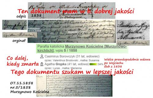Agata Borowczyk wdowa grempka d. Bernaciak [Bednarek]