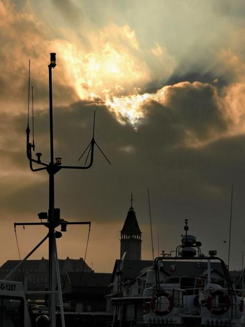Nad władysławowskim portem #chmury #Władysławowo #port