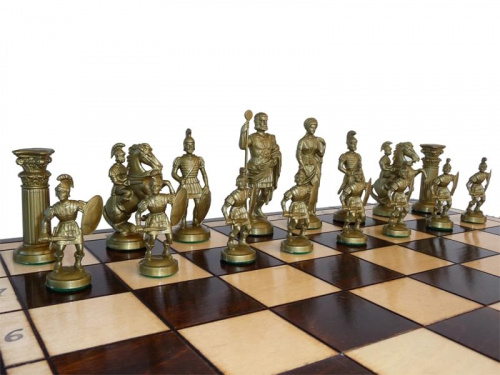 39 39 sparta 39 39 decorative chess set 50x50 stunning chessboard and weighted pieces ebay - Ornate chess sets ...
