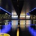 Pod mostem :) #graffiti #most #mostem #noc #Odra #oświetlenie #pod #rzeka #Szczecin #światła #trasa #Zamkowa